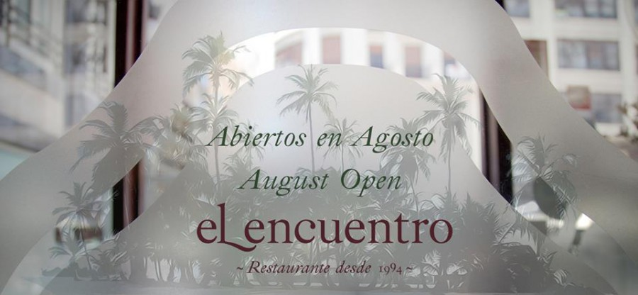 Restaurante El Encuentro abierto en agosto