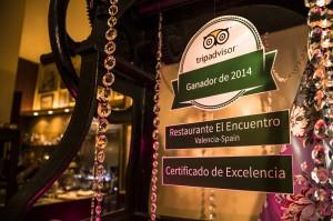 """""""Restaurante El Encuentro"""", certificado de excelencia 2014 de Tripadvisor"""