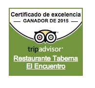 Certificado excelencia 2015 para el encuentro